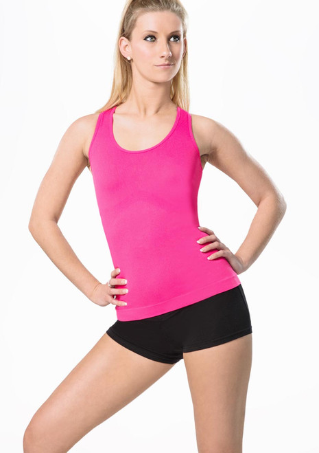 Haut Sans Couture Move Piera Seamless Rose avant. [Rose]