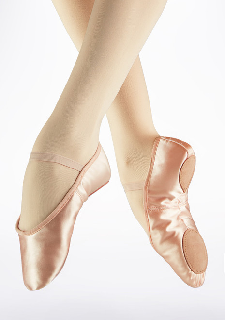 Demi-pointes en satin bi-semelle So Danca Rose image principale. [Rose]