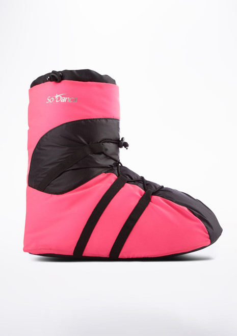 Bottines d'echauffement So Danca Rose laterale. [Rose]