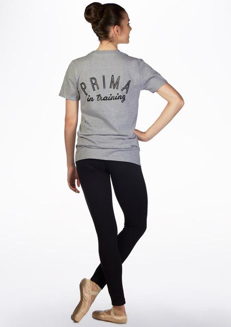 T-shirt de danse Kelham Prima Gris arriere. [Gris]