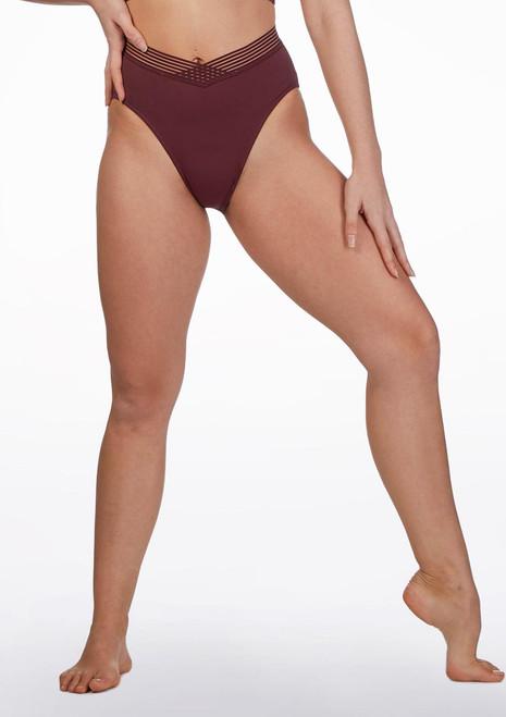 Culotte de danse cotelee a rayures  Bloch Rouge avant. [Rouge]