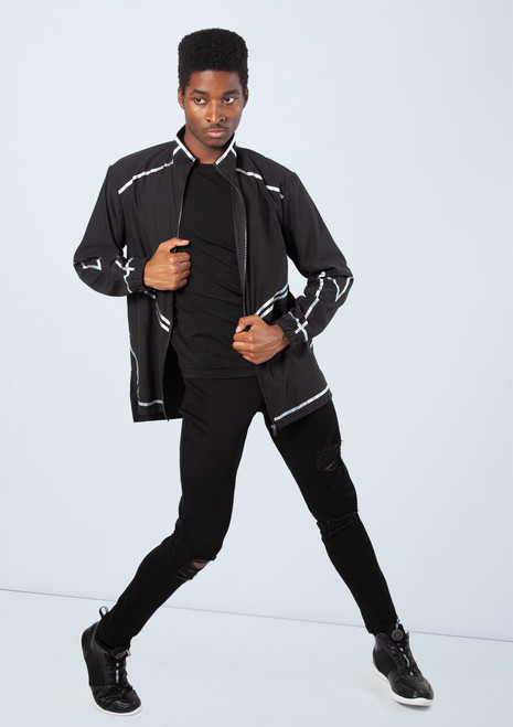 Boys Hologram Stripe Jacket [Argent]T