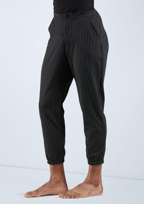 Boys Cropped Pinstripe Pants [Noir]T