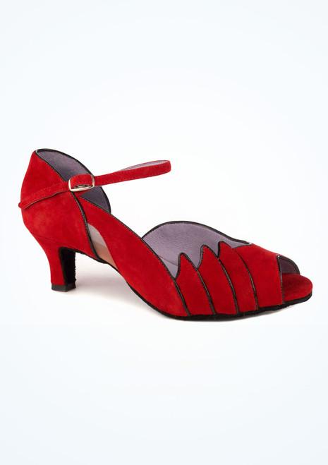 Chaussure de Danse Latine & Salon Merlet Danube 5cm Rouge. [Rouge]