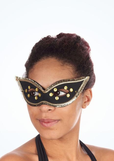 masque des yeux Fiesta Domino Noir. [Noir]