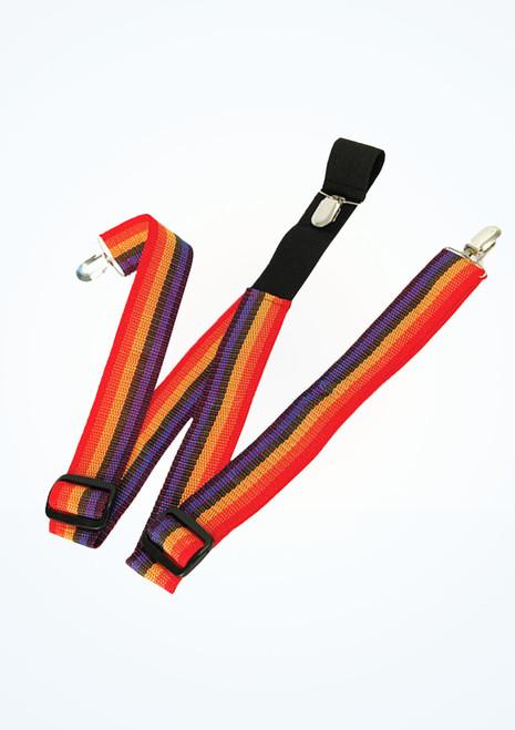 Bretelles rayes de clown Multicolore. [Multicolore]