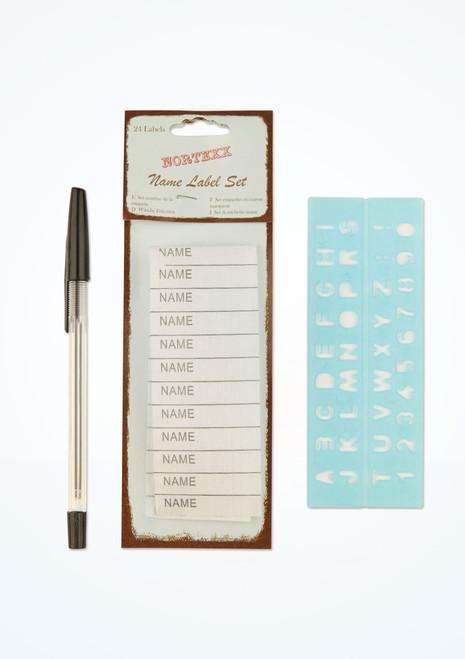 Etiquettes noms avec crayon et pochoir lot de 24 Blanc image principale. [Blanc]
