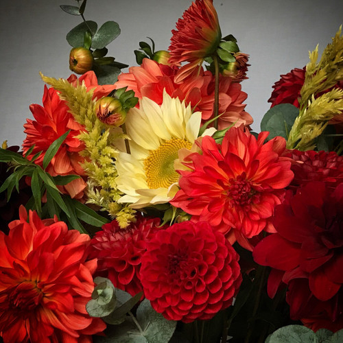 Representational of our Autumn bouquets - exact varieties depend on harvest.