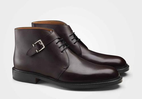 John Lobb Brand New John Lobb Combe Boot- Bordeaux calf