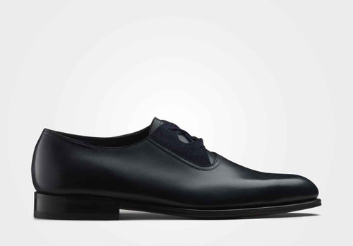 John Lobb Brand New John Lobb Ash - Navy Calf and Indigo Suede