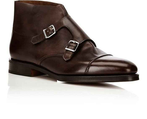 John Lobb Brand New John Lobb William II Boot in Dark Brown Misty Calf Leather