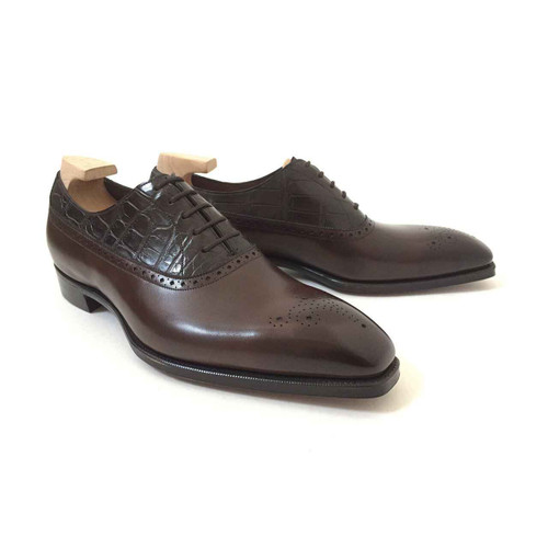 Gaziano and Girling Brand new gaziano girling Kent Alligator - Dark Brown - TG73 last