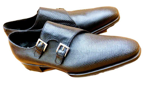 Maison Koly Brand new Maison Koly- Gotha - Double Monkstrap Oxfords - Black lizard- Preorder