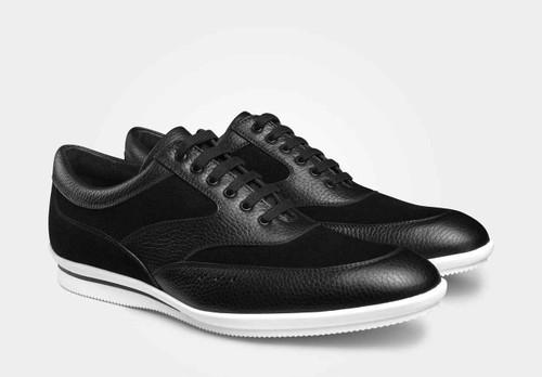 John Lobb Brand New John Lobb Venton - in Black Leather and Black Reverse Suede