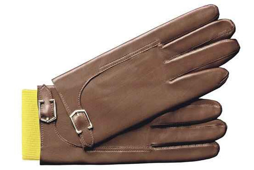 John Lobb Brand New John Lobb Buckle Gloves - Twinstitch - Brown
