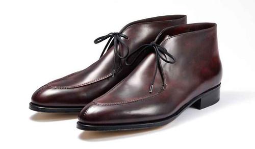 John Lobb Brand New John Lobb Fowey Boot - Plum Museum calf