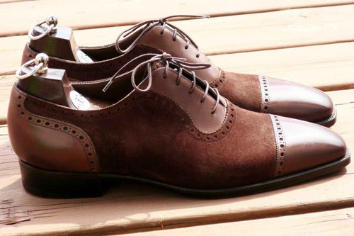 Gaziano and Girling Brand New Gaziano and Girling MTO St James made on the TG73 last- Brown Suede and Calf