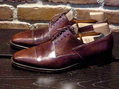 John Lobb John Lobb Brook Cap toe Derby Brown Calf Leather- Preowned