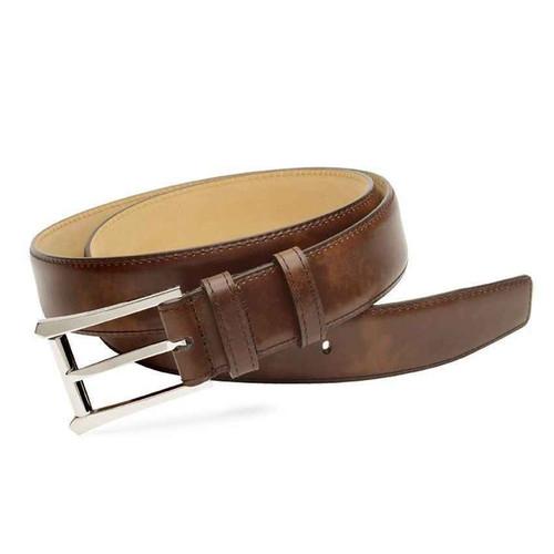John Lobb Brand new John Lobb Oblong Belt in Parisian Brown Misty Calf leather