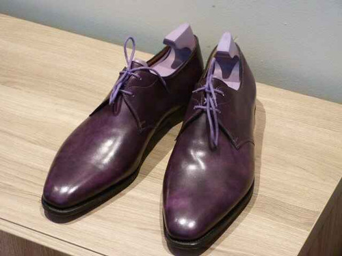 John Lobb Brand New John Lobb Willoughby Paul Smith Limited edition Iris Purple Museum Calf