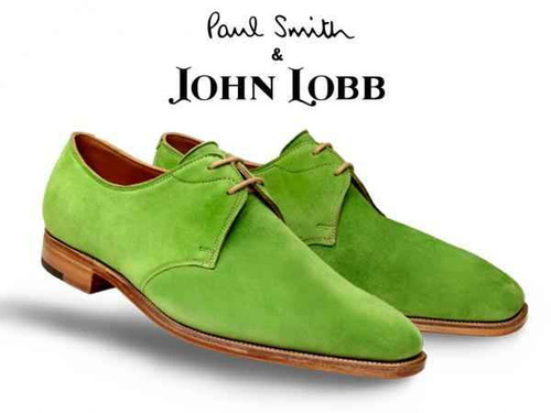 John Lobb John Lobb Willoughby for Paul Smith in Green Suede