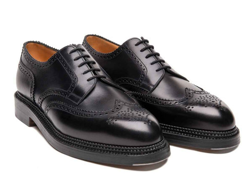 JM Weston Brand new jm weston Medallion wing-tip Derby triple sole Derby 590- Black Box calf