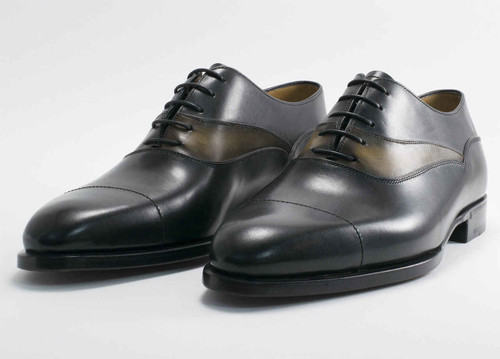 Berluti Brand New Berluti Mirage Black Venezia Leather handmade dress shoes