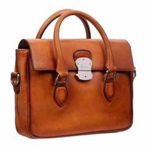Berluti Berluti Emio Handbag- Made in Italy Venezia Brown Patina leather bag - Preowned