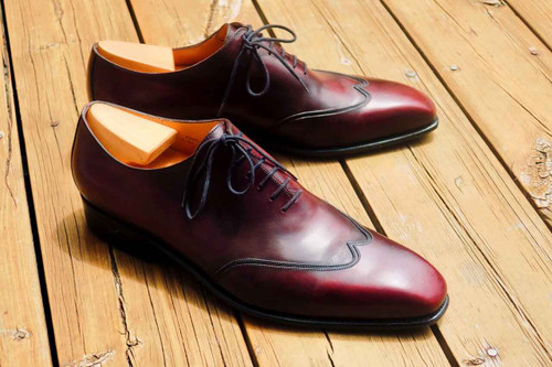 JM Weston JM Weston 423 Richelieu Oxfords - Burgandy Vocalou calf