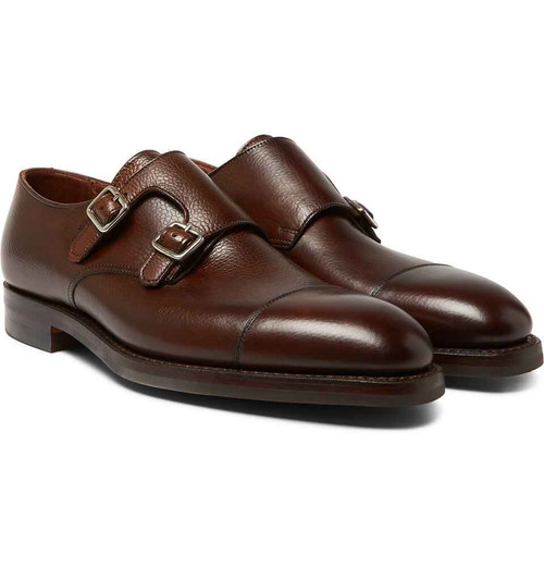 Cleverley Brand new George Cleverley Thomas - Brown pebble grain leather