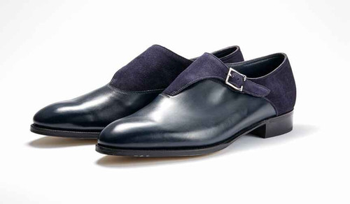 John Lobb Brand New John Lobb Easton - Navy Calf and Indigo Suede