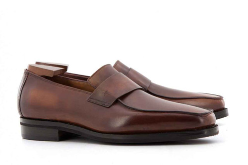 Corthay Brand New Corthay Bel Air Loafers in Vieux Bois patina