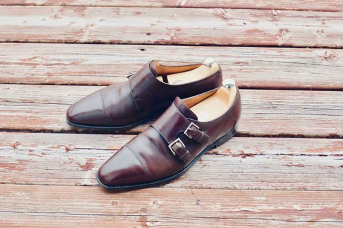 John Lobb John Lobb Derwent Brown Buffalo Meleze Leather