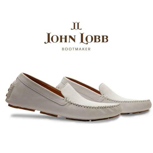 John Lobb Brand New John Lobb Driver - White Suede