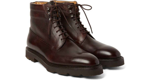 John Lobb Brand New John Lobb Alder Boot - Caviar leather and Plum Museum