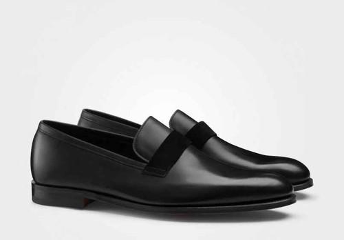 John Lobb Brand New John Lobb Wells - Black Calf and Black Suede