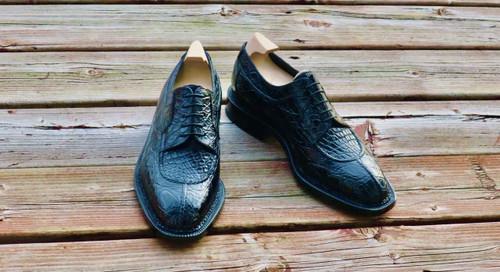 Maison Koly Brand New Maison Koly X Enzo Bonafe - Safari derby - Black crocodile PRE-ORDER 50percent deposit