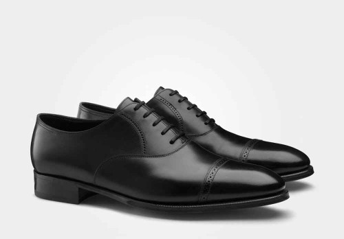 John Lobb Brand New John Lobb Philip II from the Prestige Collection- in Black Calf- 7000 Last