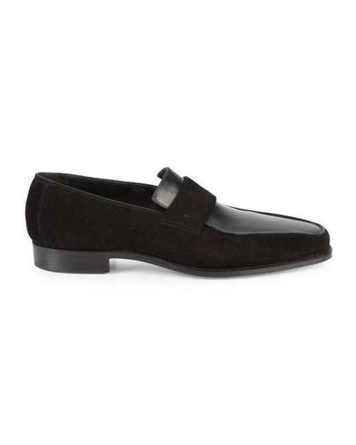 Corthay Brand New Corthay Bel Air Loafers in Leather and Suede - Black
