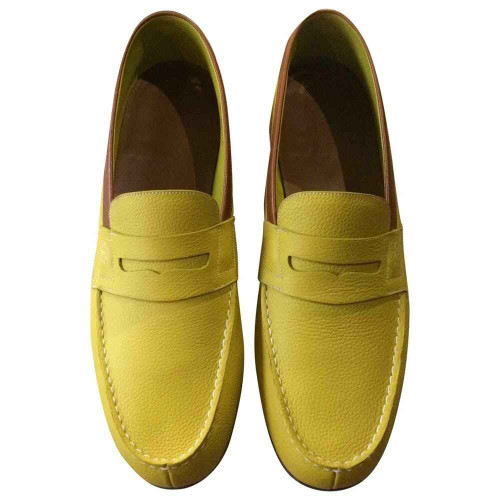JM Weston Brand new JM Weston Le Moc Loafers - Yellow calf