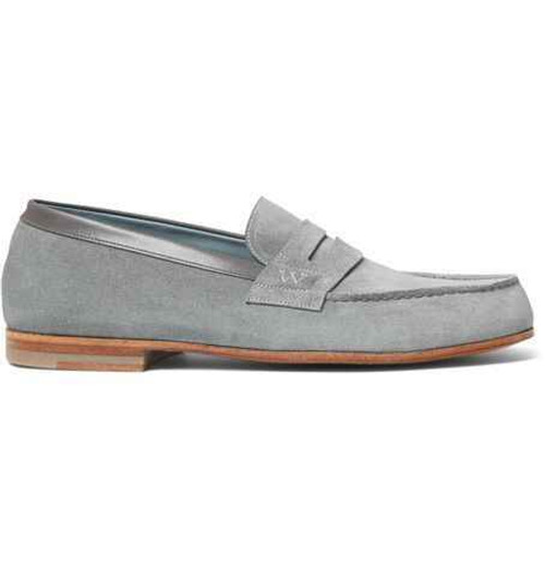 JM Weston Brand new JM Weston Le Moc Loafers -Grey suede
