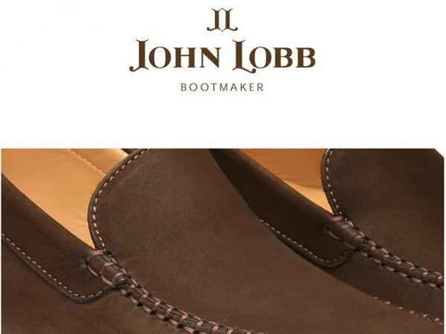 John Lobb Brand New John Lobb Driver - Brown Suede