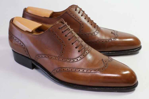 JM Weston JM Weston 528 richelieu wing-tip - Flore Limited edition- brown Leather