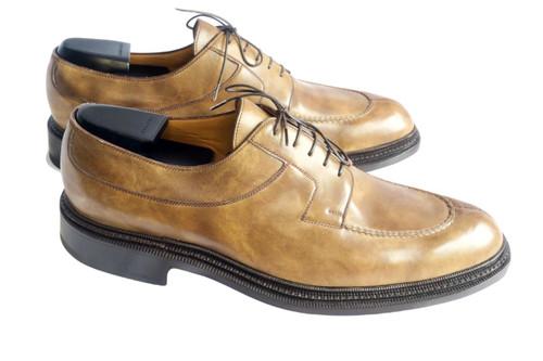 Maison Koly X Bonafe Trilogie triple sole khaki museum leather