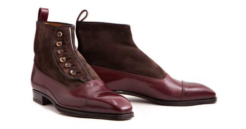 Enzo Bonafe Brand New Enzo Bonafe - Button Boots - Bordeaux- Meleze- Black
