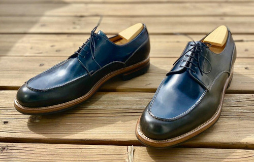 Maison Koly Brand New Maison Koly X Enzo Bonafe - Riviera- Navy Cordovan and Ilcea green Museum PRE-ORDER 50percent deposit