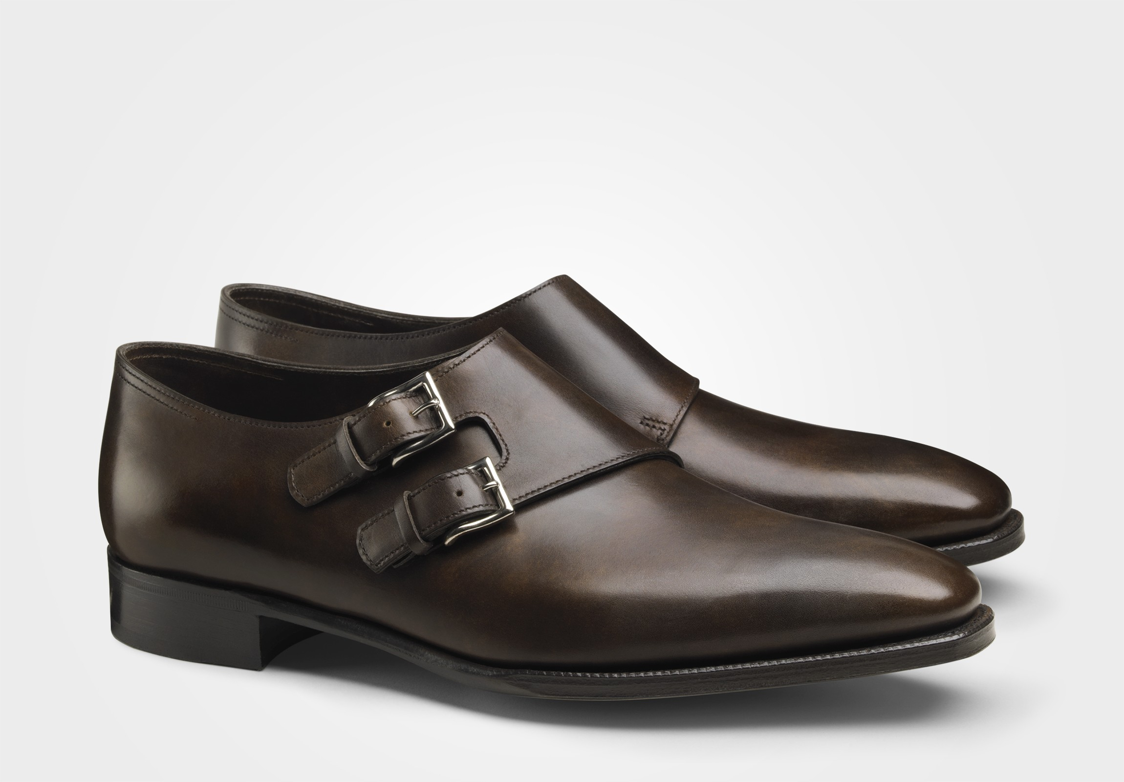 John Lobb Chapel double monkstrap dark Brown museum dress shoes