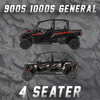 POLARIS RZR  900S4/1000S4 & GENERAL 4 SEATER TENDER SPRING SWAP KIT