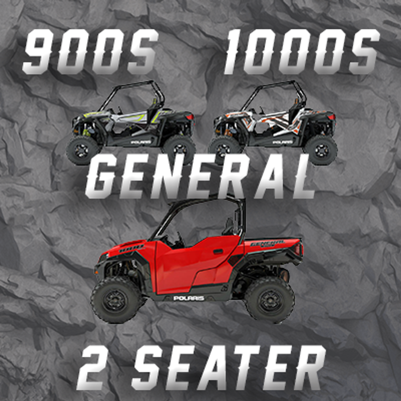 POLARIS RZR 900S/XC - 1000S - GENERAL 2 SEATER TENDER SPRING SWAP KIT