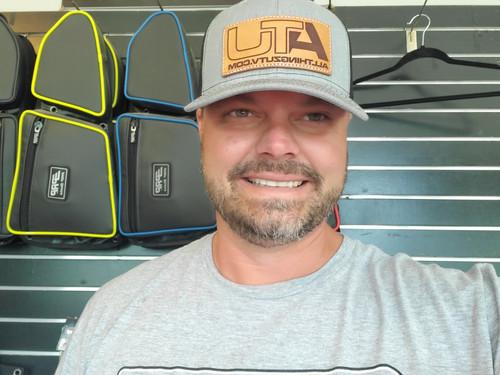"All Thingz UTV ""Big Boss"" Leather Patch Richardson 112 Snap Back Hats"